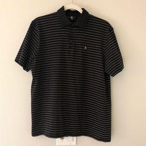 Volcom Men's Black w/White Polo Sz L